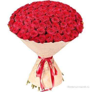 Букет из красных роз 101 шт