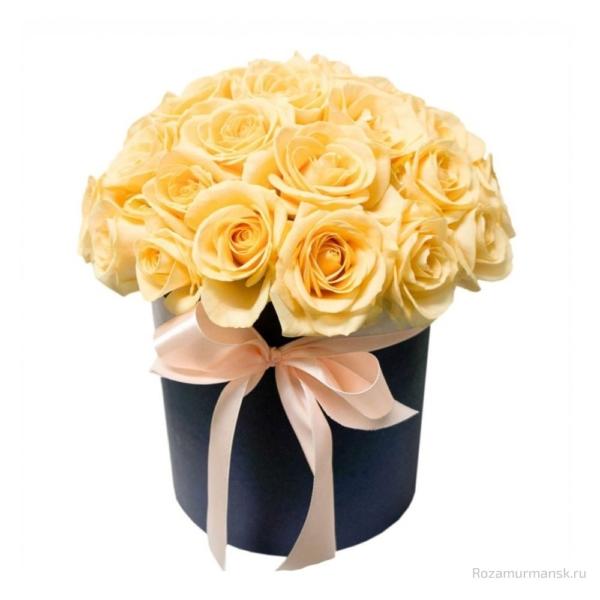 Коробка «Кремовые розы»