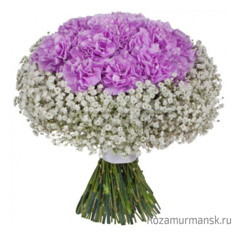 Дизайнерские букет из гвоздик и роз, букеты армавире
